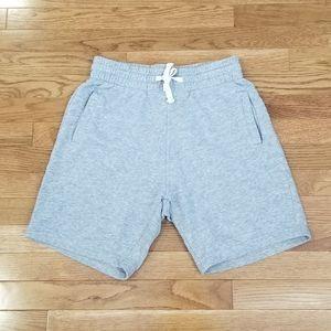 Divided gray high waist jogger dad shorts